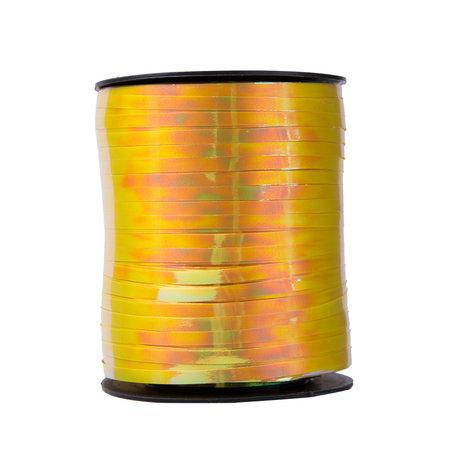 1 x Metallic krullint 5 mm x 500 mtr. Kleur Gem Goud