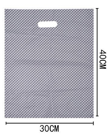 100 Stuks Plastic draagtas met gestanste handgrepen H40cm x B30cm