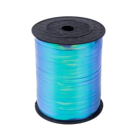 1 x Metallic krullint 5 mm x 500 mtr. Kleur Gem Blauw