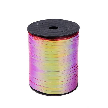 1 x Metallic krullint 5 mm x 500 mtr. Kleur Gem Rood