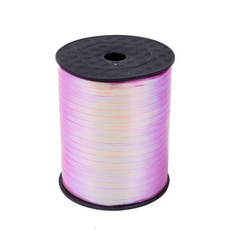 1 x Metallic krullint 5 mm x 500 mtr. Kleur Gem Rose