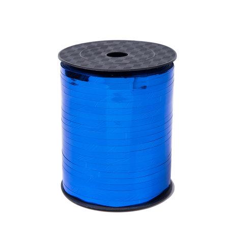 1 x Krullint 5 mm x 500 mtr., Kleur Blauw Glans