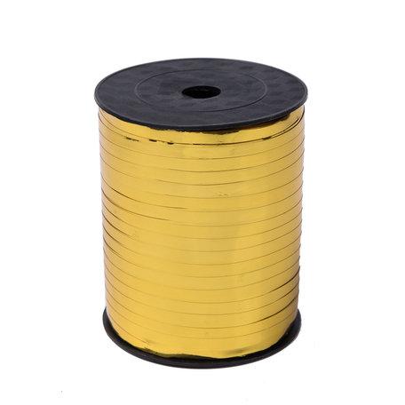 1 x Krullint 5 mm x 500 mtr., Kleur Goud Glans
