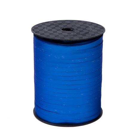 1 x Krullint 5 mm x 500 mtr., Kleur Blauw Mat