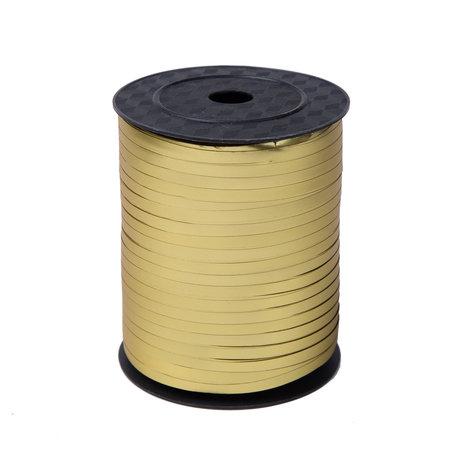 1 x Krullint 5 mm x 500 mtr., Kleur Goud Mat