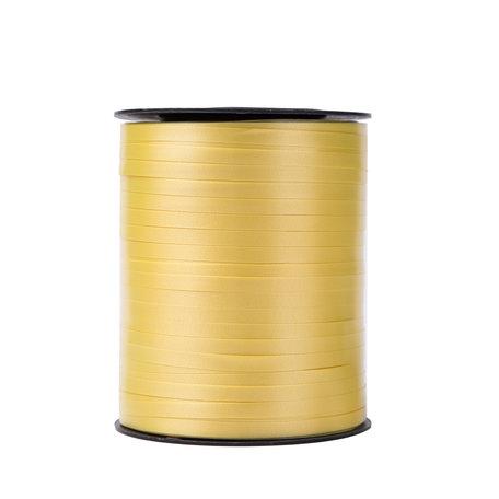 1 x Krullint 5 mm x 500 mtr., Kleur Geel