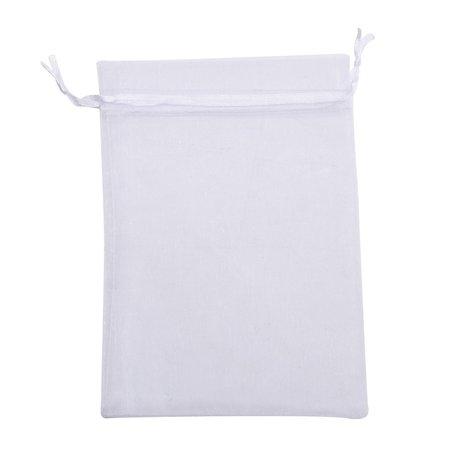 Organza zakjes Wit Kleur 10x16 cm Pak van 50 Stuks