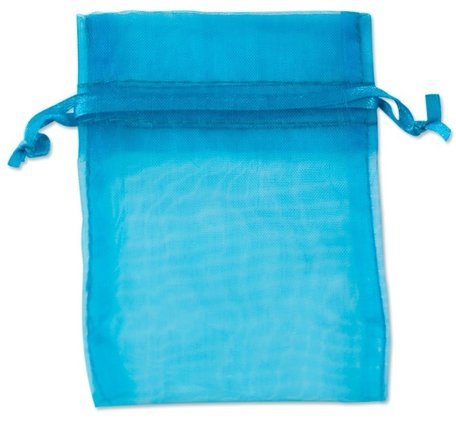 Organza zakjes turquoise Kleur 9x12 cm Pak van 50 Stuks