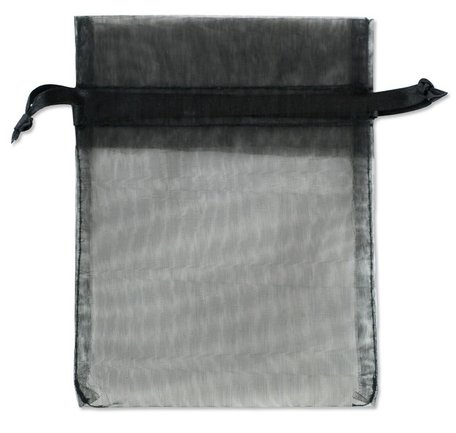 Organza zakjes Zwart Kleur 9x12 cm Pak van 50 Stuks