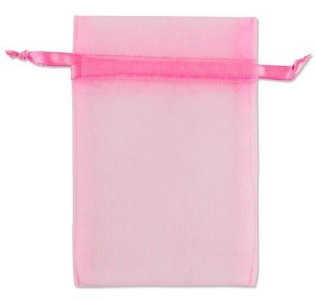 Organza zakjes Rose Kleur 10x16 cm Pak van 50 Stuks