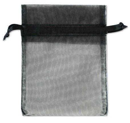 Organza zakjes Zwart Kleur 10x16 cm Pak van 50 Stuks