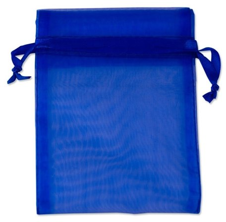 Organza zakjes kobalt blauw Kleur 9x12 cm Pak van 50 Stuks