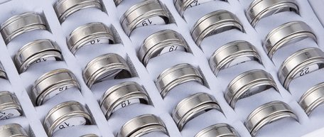 36 stainless steel rings