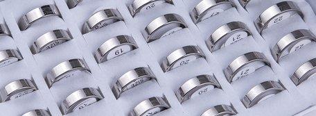 36 stainless steel rings