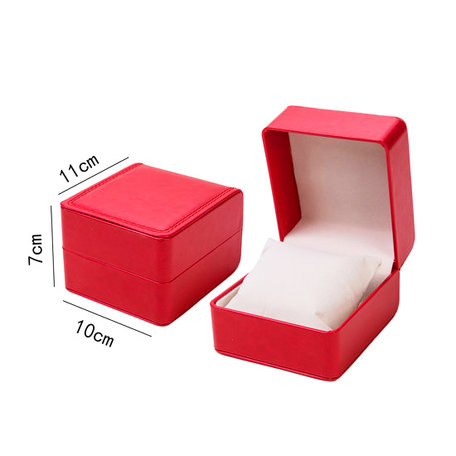 Luxury Leather jewellery box for Watches/Bracelets Red