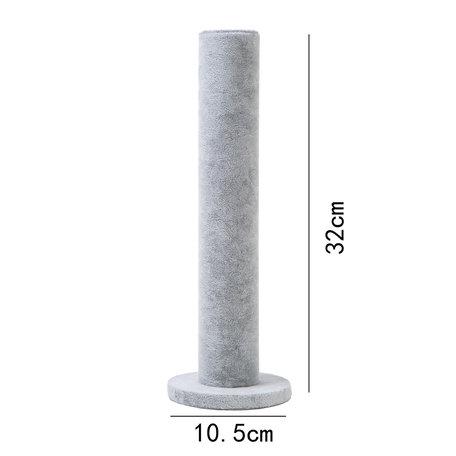Sieraden display 1 staande rol fluwelen grijs