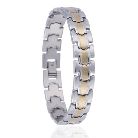RVS ARMBAND STAINLESS STEEL Kleur Zilver