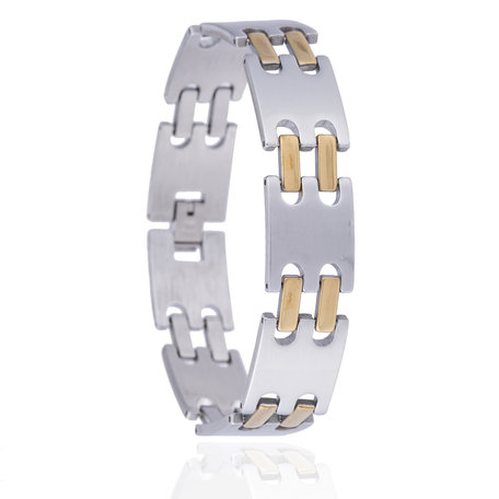RVS ARMBAND STAINLESS STEEL Kleur Zilver & Goud