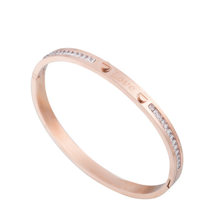 ARMBAND STAINLESS STEEL Kleur Rosé Goud - Quote Armband