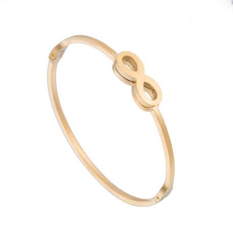 ARMBAND STAINLESS STEEL Kleur Goud - Infinity Symbool