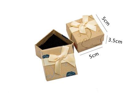 24 stuksVerpakkingsdoosjes ring 5x5x3.5 cm