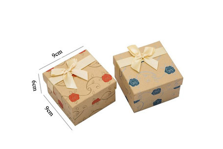 6 pieces Packaging boxes Bracelet or watch 9x9x6 cm