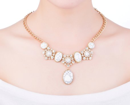 statement ketting - Gala Met Marmer Look Pendant