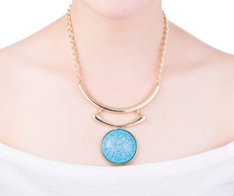 statement ketting - Blue Moon Pendant
