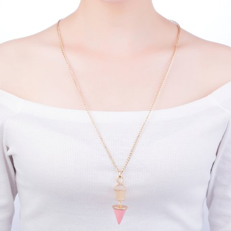 statement ketting - Marmer Look Pendant