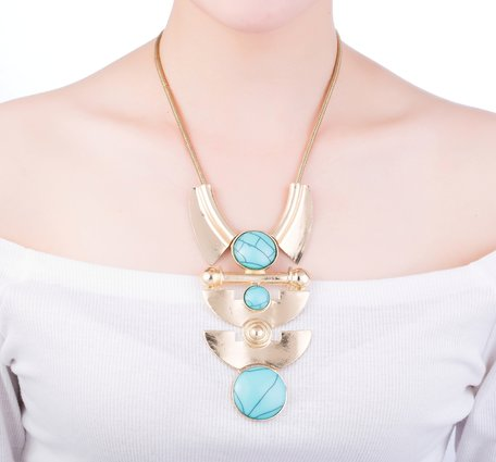 statement ketting - Blue Moon Necklace