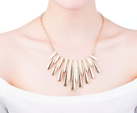 statement ketting - Golden Pendant Necklace
