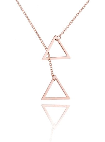 Stainless Steel Ketting Dubbel Driehoek/Double Triangle