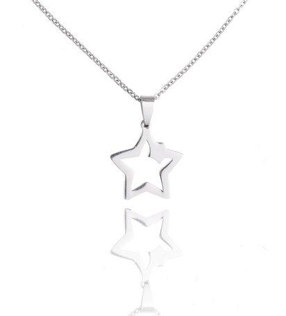 Stainless Steel Ketting Met Ster/Star
