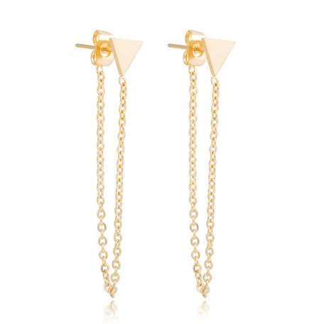 ROEST VRIJ STAAL CHAIN EARRING Full TRIANGLE