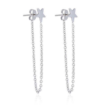 Roestvrij STAAL CHAIN EARRING STER