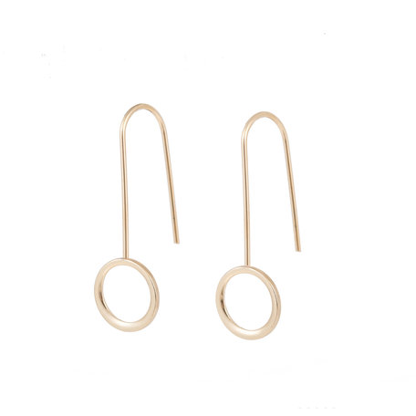 STAINLESS STEEL EARRING ROUND Color Gold