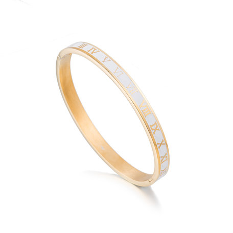 ARMBAND STAINLESS STEEL Kleur Goud & Wit