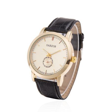 Exclusieve Horloge - Goud met Leder Croco Band