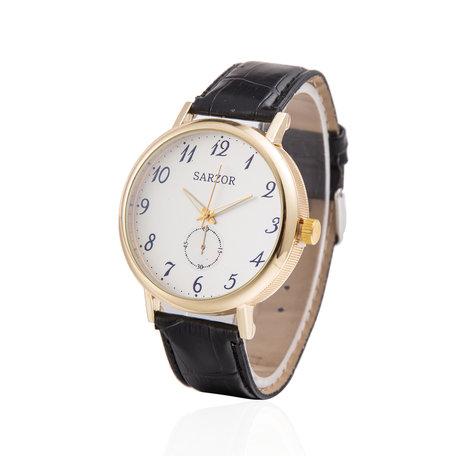 Exclusieve Horloge - Goud & Wit met Leder Croco Band