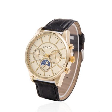 Exclusieve Horloge - Goud met Lederen Croco Band