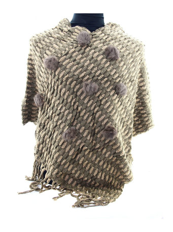 Donker Taupe poncho