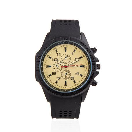 Navy Horloge - Gouden kast - Rubberen Band