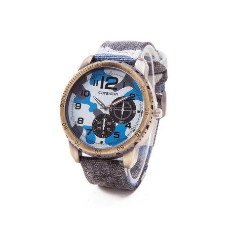 Exclusieve Jean Horloge - Blauw