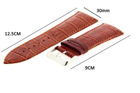 Horlogeband Leer 30mm Licht Bruin