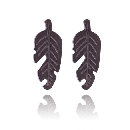 Ear Studs RVS Color Black