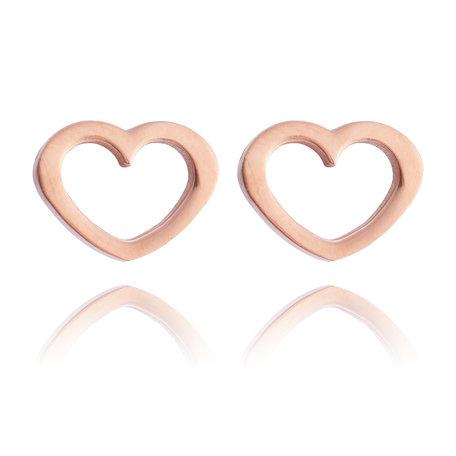 Ear Studs RVS  Kleur Rosé Goud
