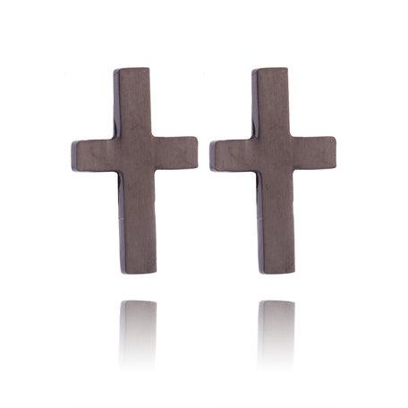 Ear Studs roestvrij staal kleur zwart