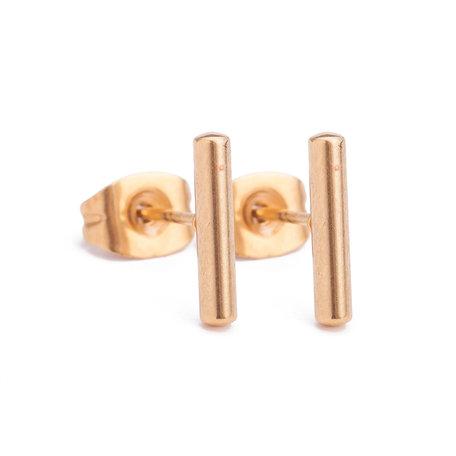 Ear Studs RVS Kleur Goud