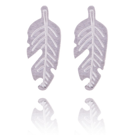 Ear Studs RVS Kleur Zilver