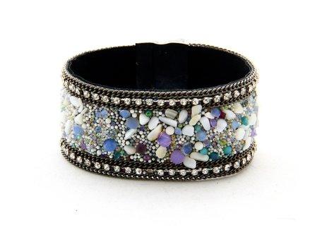 Ibiza Armband - Met strass kristallen & steentjes - Multie Color